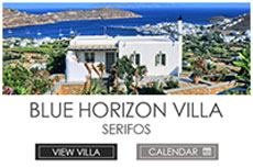 The Blue Horizon Villa, Serifos